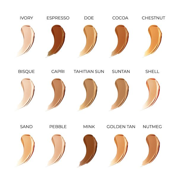 liquid mineral foundation shades