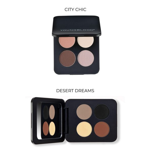 pressed mineral eyeshadow quad youngblood 4